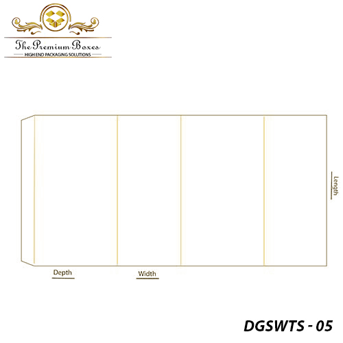 Double-Glued-Side-Wall-Tray- Sleeve-template-design