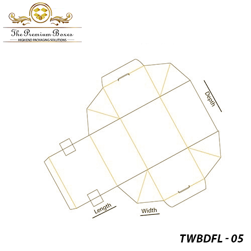 Tuck-With-Bellow-Dust-Flap-Lock-Template