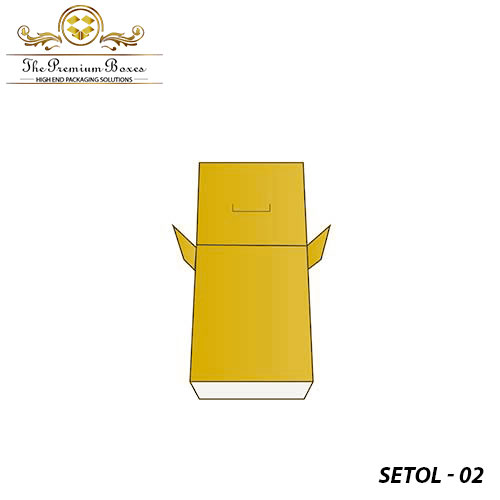 cardboard seal end with tear open lock packaging