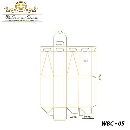 cardboard wine carrier template