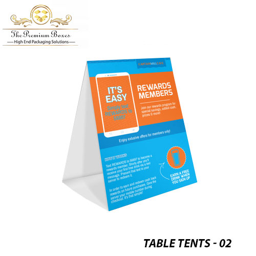 cheap table tents
