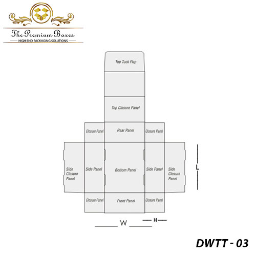 custom double wall tuck top boxes structural diagram