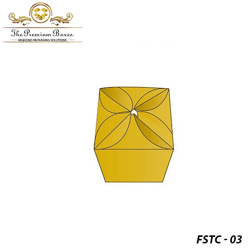 custom flower shaped top closure box