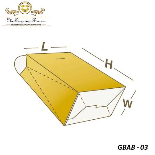 custom gable bag auto bottom