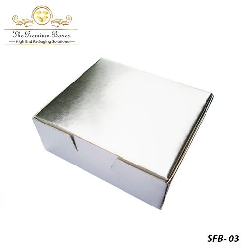 custom silver foil box