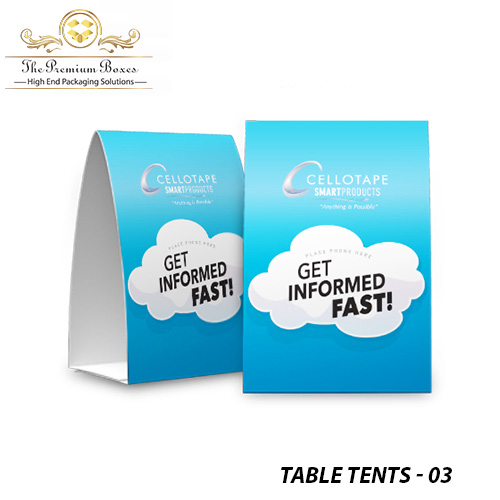 custom table tent printing