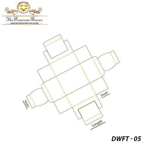 double wall frame tray template