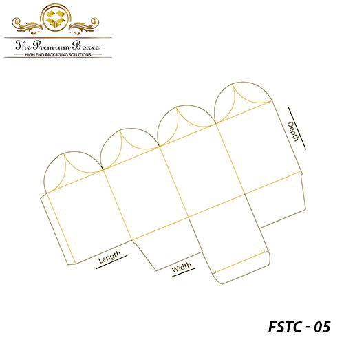 flower shaped top closure box template