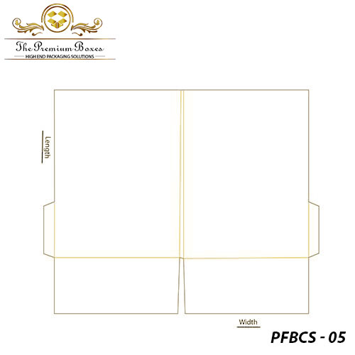 pocket folder with business card slit template