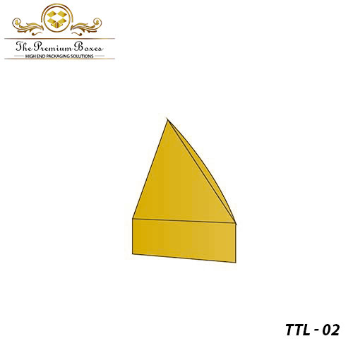 printed triangular tray and lid boxes