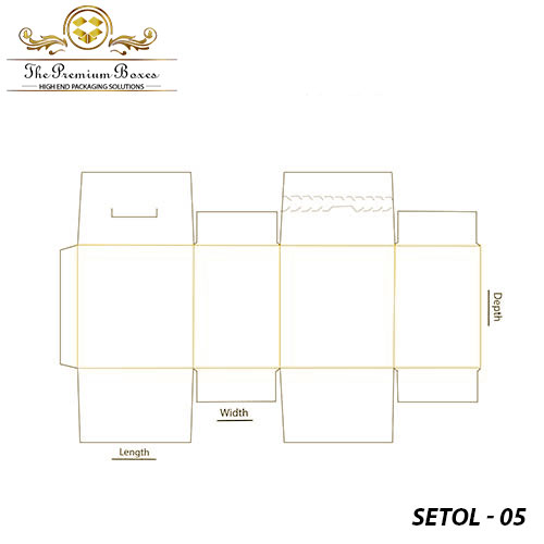 seal end with tear open lock packaging template