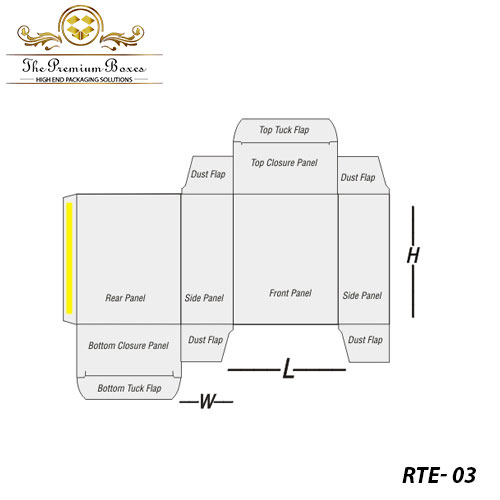 structural design of reverse tuck end boxes