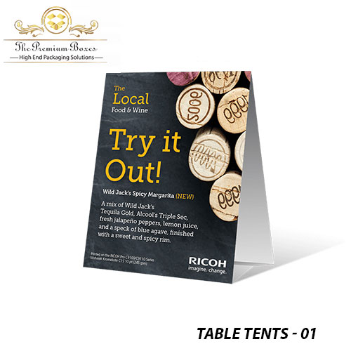 table tents printing