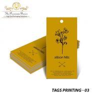 Tags Printing