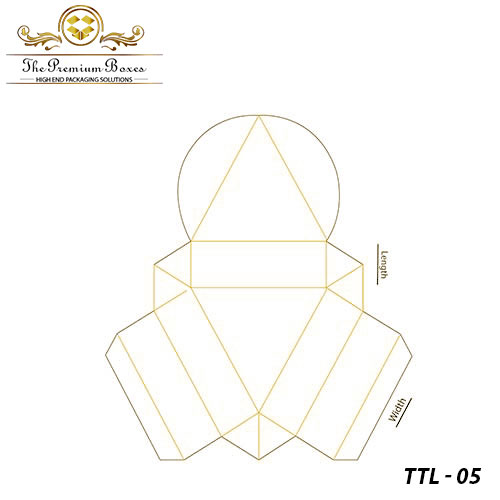 triangular tray and lid boxes template
